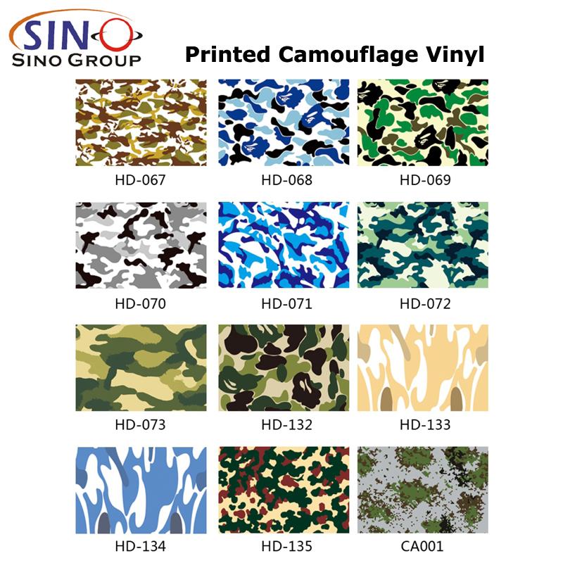 CL-CA Mehrere Farben Gedruckt Tarnen Vinyls