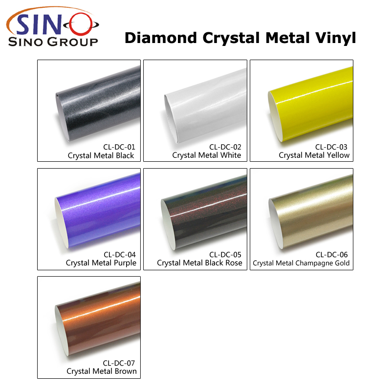 CL-DC Diamant Kristall Metall Auto Karosserie Aufkleber Vinyl Wickeln