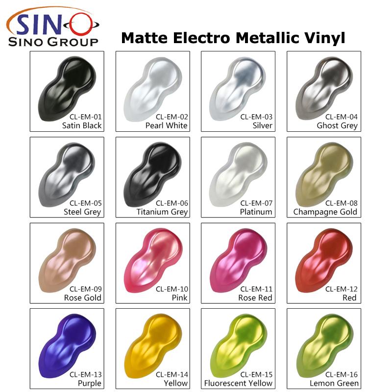 CL-EM Matt Elektro Metallisch Autofolie Vinylfoile