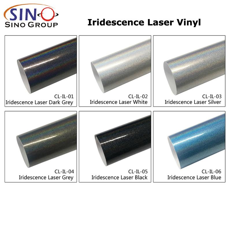 CL-IL Irisierend Laser Regenbogen Glitzer Auto Verpackungs Vinylfolie