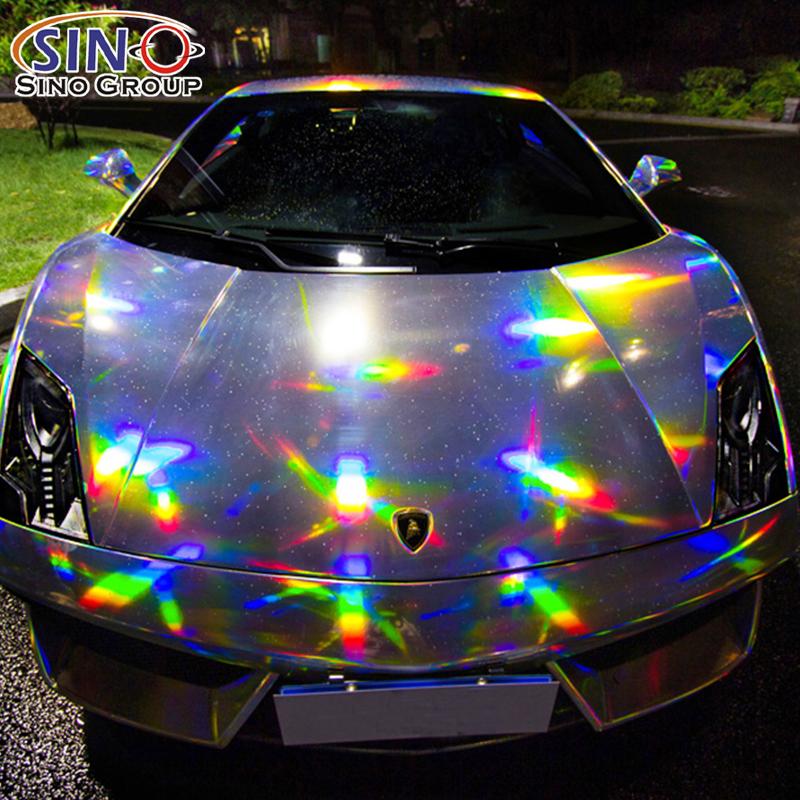 CL-LS Laser Chrom Holographisch Regenbogen Vinyl Zum Auto Ganze Karosserie Verpackung