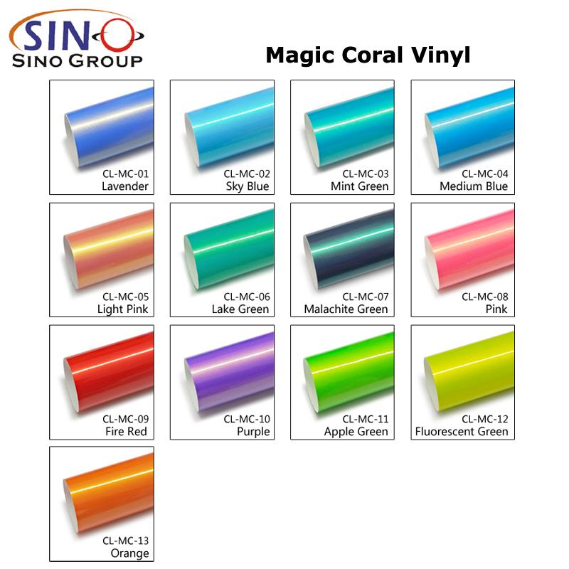 CL-MC Zauber Koralle Vinyl Automotive Auto Verpackung Folie