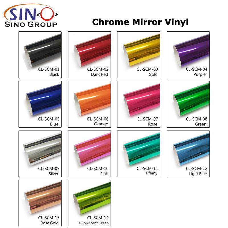 CL-SCM Chrom Spiegel Auto Wrap Vinylfolie