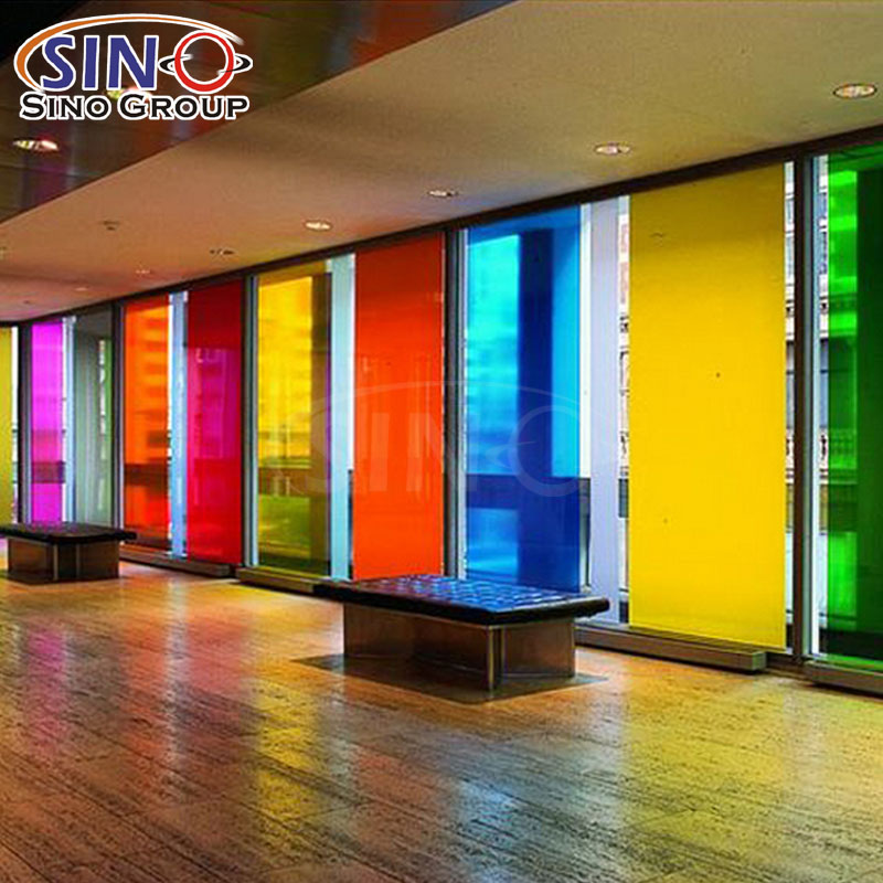 Anti Scratch transluzentes Gebäude dekorative farbige Tönungsglasfolie