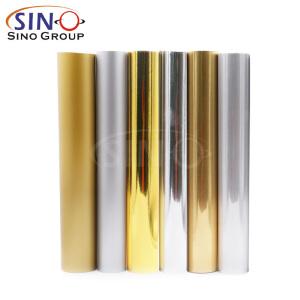 Chrome Metal PET PVC Gold Silver Color Cutting Vinyl Film