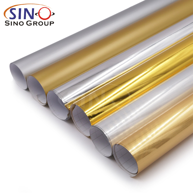 Chrome Metal PET PVC Gold Silver Color Cutting Vinyl Film
