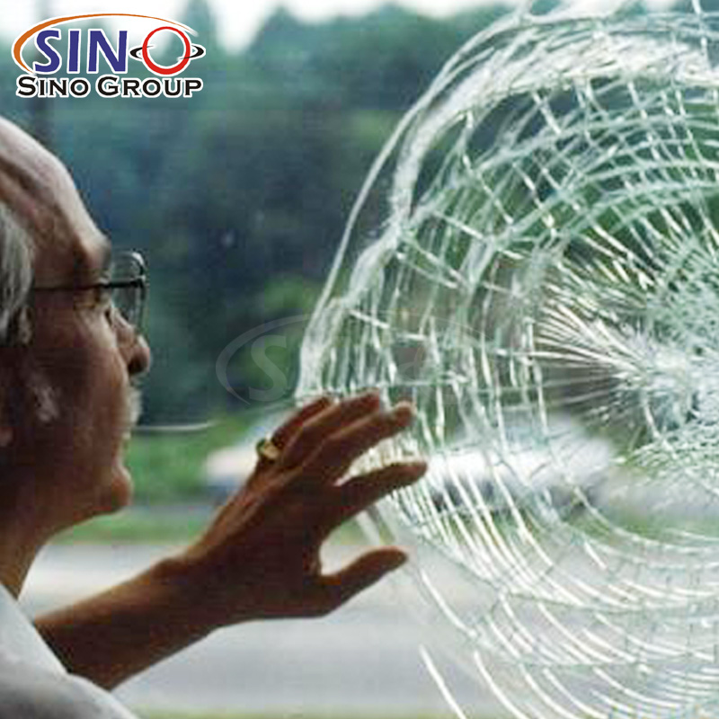 2Mil 4Mil 8Mil 12Mil Kugelsichere Sicherheitsfensterglas-Schutzfolie